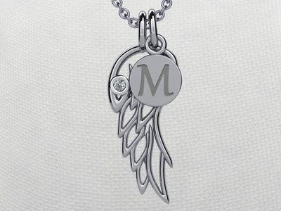 Angel Wing Pendant Sterling Silver*