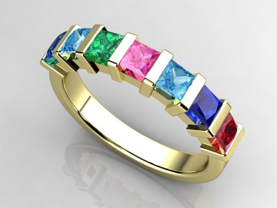 Christopher Michael Designed Seven Birthstone Mothers Ring*