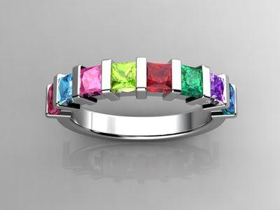 Christopher Michael Designed Eight Birthstone Mothers Ring*