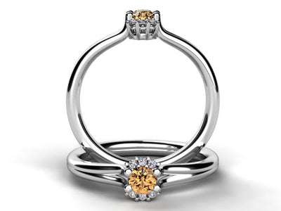 Mother's Ring With Fine Diamond and One Natural Birthstones* designed by Christopher Michael