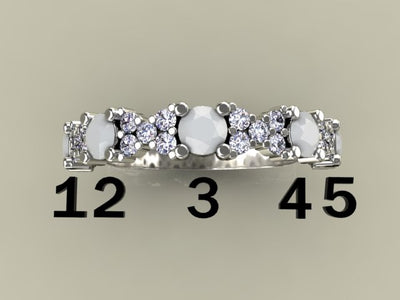 5 Birthstone Mothers Ring With .26 carats of Fine Diamonds by Christopher Michael*