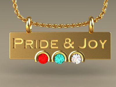 Three Birthstone Pride and Joy Mother's Pendant *