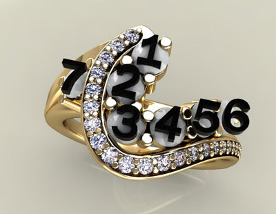 Seven Birthstone Custom Mothers Ring With Ideal Cut Diamonds* by Christopher Michael