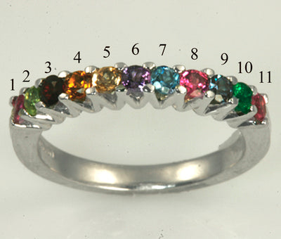 Eleven Birthstone Mothers Ring*