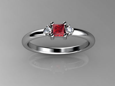 Christopher Michael Designed One Birthstone Mothers Ring With Fine Diamonds*