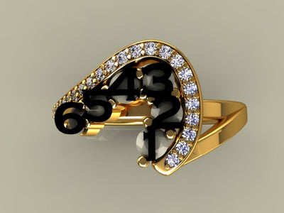 Six Birthstone Custom Mothers Ring With Fine Cut Diamonds* by Christopher Michael