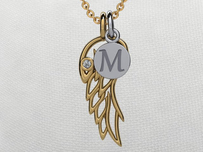 Angel Wing Pendant 14 kt. gold*