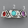 3 Stone Bezeled Hugs and Kisses Mothers Ring* Designed by Christopher Michael