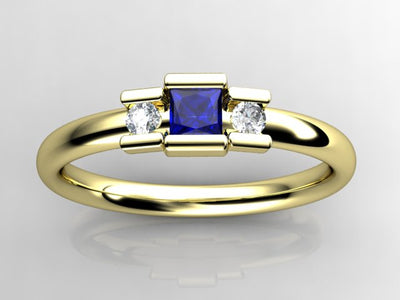 1 Birthstone Princess Mothers Ring by Christopher Michael with Diamond Accent*