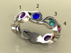 Unique Four Birthstone Mothers Ring By Christopher Michael*