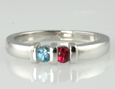 Sisters/ Mothers Ring with Natural Birthstones*
