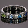 4 Birthstone Christopher Michael Designed Mothers Ring with Fine Diamonds*