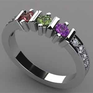 Diamond Mothers Ring