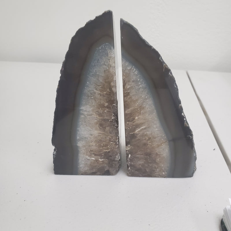 Black Agate Bookend Pair