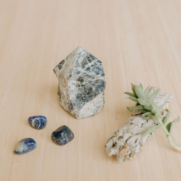 Sodalite Semi-Polished Standing Point