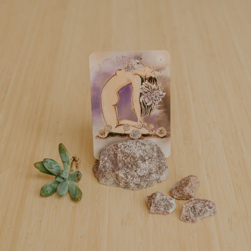 Lepidolite Card Holder