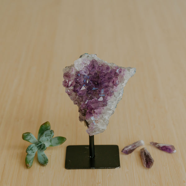 Amethyst Cluster on Stand - Small