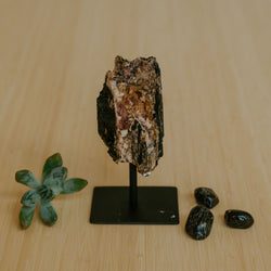 Tourmaline Chunk on Stand - Small