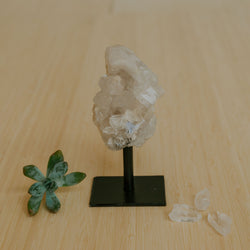 Clear Quartz Cluster on Stand - Small