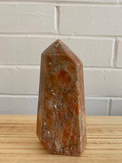 Orange Calcite Obelisk Tower Specimen