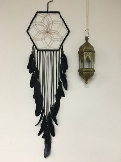 Dark Haze Dream Catcher - Black Medium