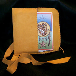 Leather Wrap Around Tarot Runes Bag