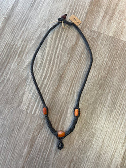 Carnelian Cord Necklace