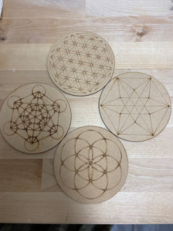 Wooden Grid Set - 4 Piece