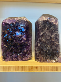Amethyst & Agate Standing Point - Deep Purple