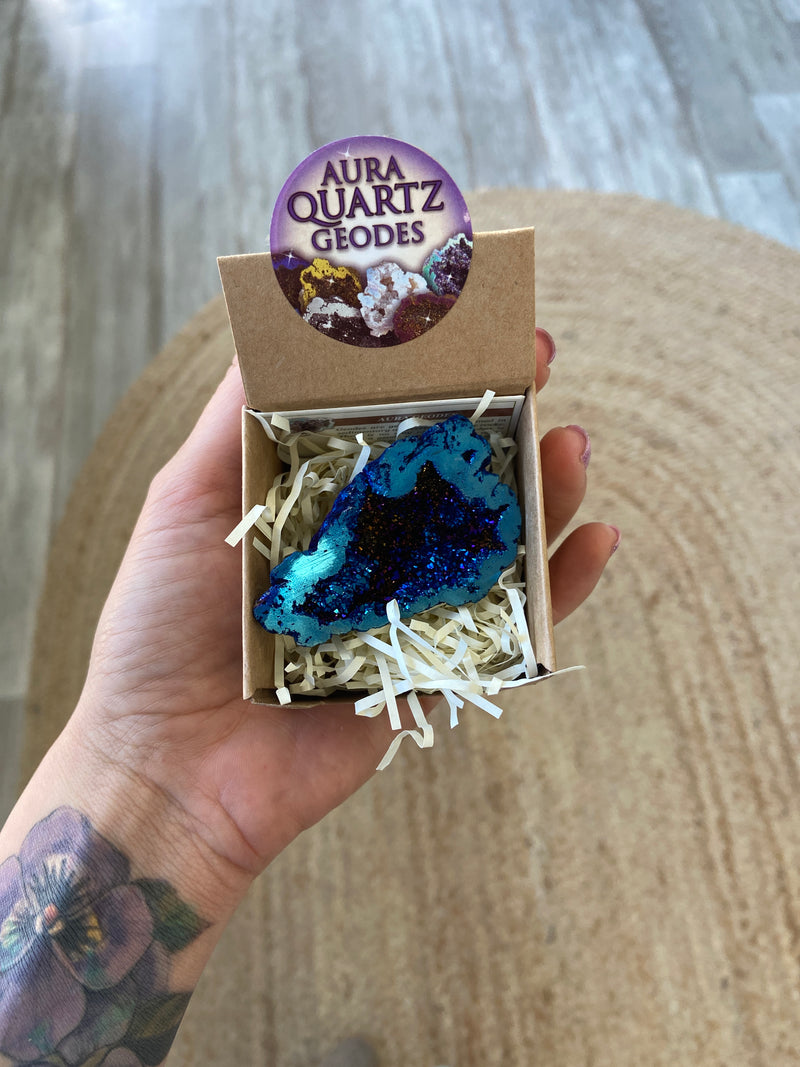 Aura Quartz Geodes - Boxed