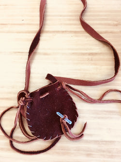 Leather Necklace Pouch / Medicine Bags