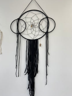 Black Leather Large Dream Catcher