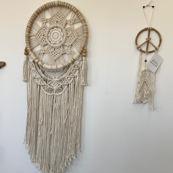 Macrame Dream Catcher Flower Design
