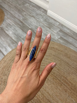 Sodalite Marquis Gold Ring
