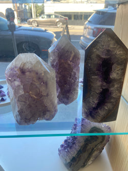Amethyst & Agate Standing Point - 1250g