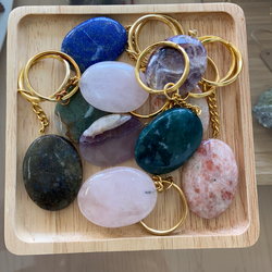 Assorted Worry Stone Keychains