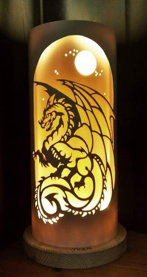 Handcrafted Dragon Night Light by Tique Lights