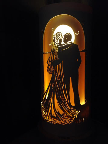 Handcrafted Wedding Couple Night Light by Tique Lights