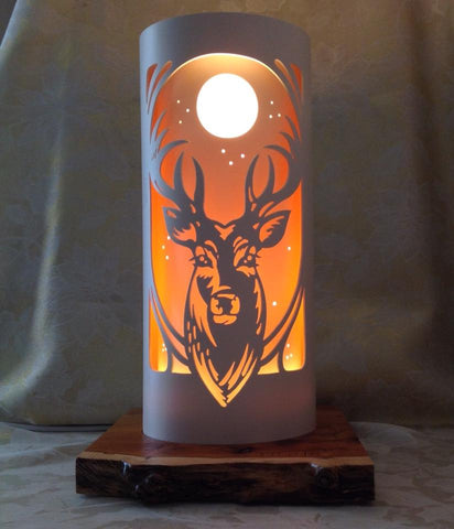 Handcrafted Stag Head Night Light by Tique Lights