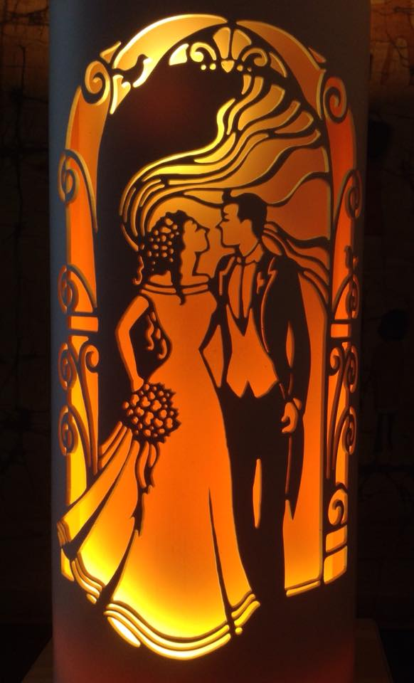 Handcrafted Wedding Arch Night Light by Tique Lights