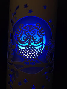 Handcrafted Owls Night Light (Color Changing Option) by Tique Lights