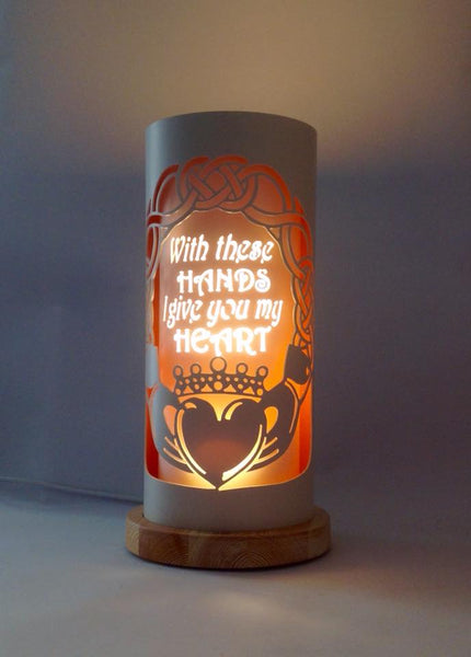 Handcrafted Claddagh Wedding Night Light by Tique Lights
