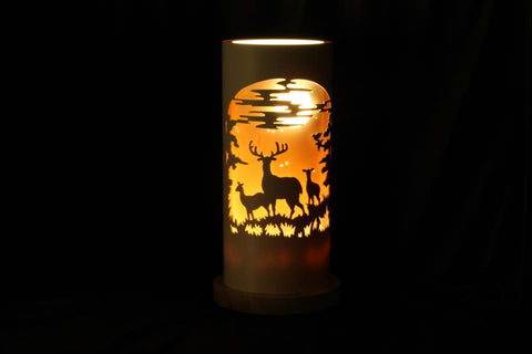 Handcrafted Stags Night Light by Tique Lights