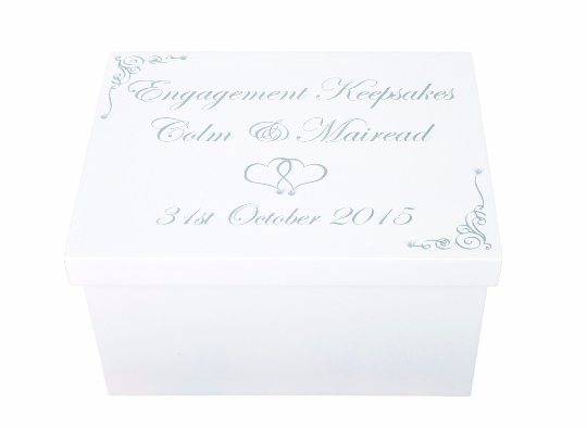 Engagement Keepsake Box by PD's Workshop