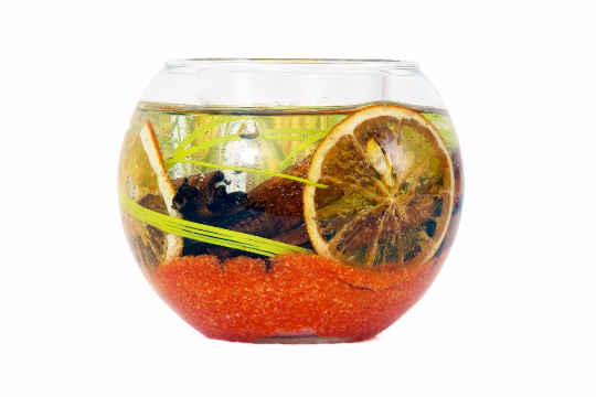 Unique Handmade Mini Fish Bowl Gel Tealight Candle by Enjoy Candles
