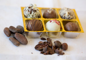Chocolate / Raspberry Truffles by Glaslough Chocolates