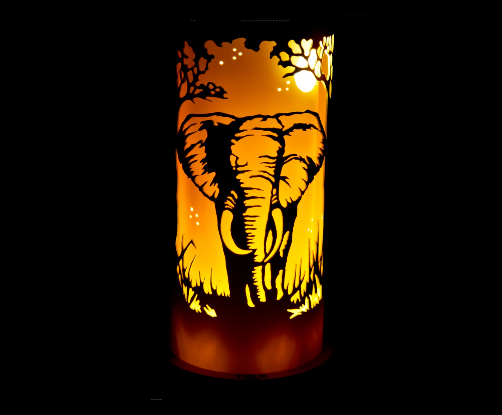 Handcrafted Bull Elephant Night Light by Tique Lights