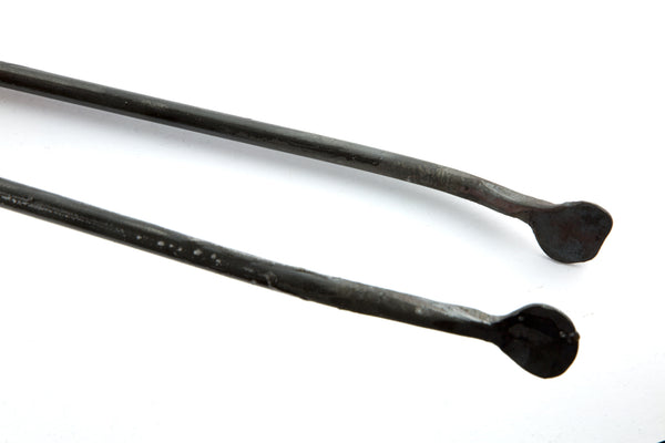 Traditional Hand Forged Irish Box Hinged Fireplace Tongs by Peter Cassidy