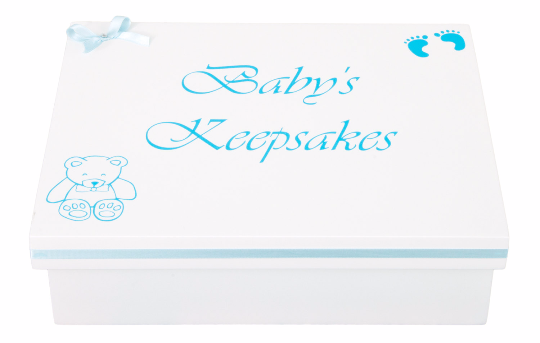 Personalised Baby Boy Keepsake Box by PD's Workshop