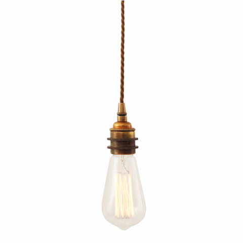 Vintage Braided Suspension Pendant Light by Mullan Lighting